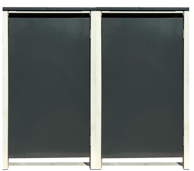 2 Tailor dei rifiuti box BASIC per 240 LITRI tonnellata O. Punzone antracite grigio