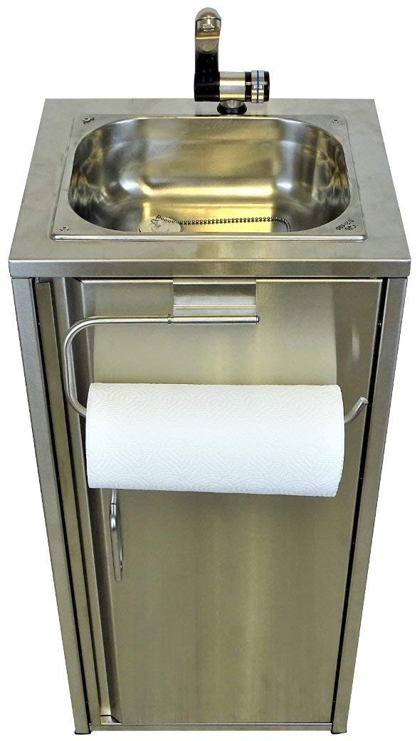 Zubehör Mobiler Spülbecken Waschbecken Spüle mit Rollenhalter Silbergrau inkl